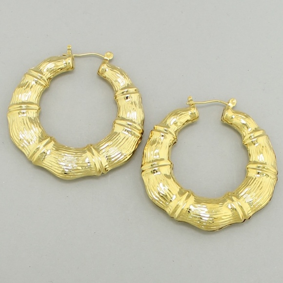 Gold Plated Bamboo Earrings & 60% off Jewelry - Gold Plated Bamboo Earrings from Anne⭐️posh ...